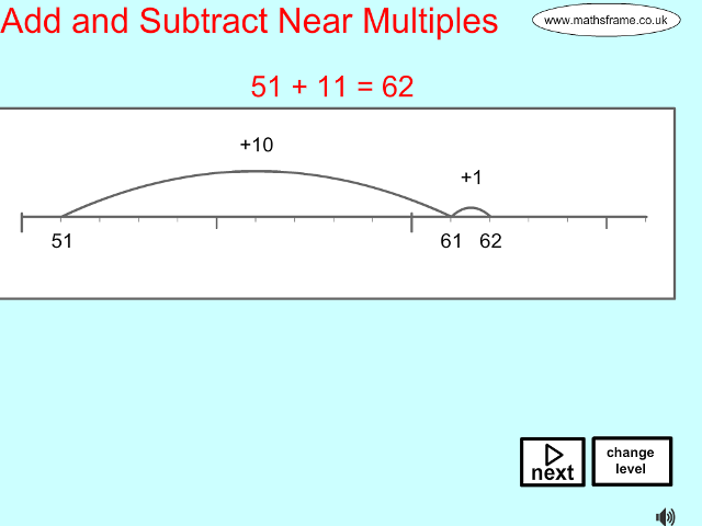 Add and Subtract on a Number Line - Mathsframe