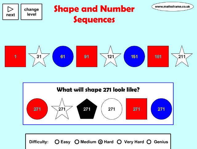 Year 6: Algebra - Mathsframe