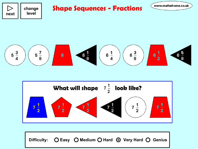 fractions-shape-sequences