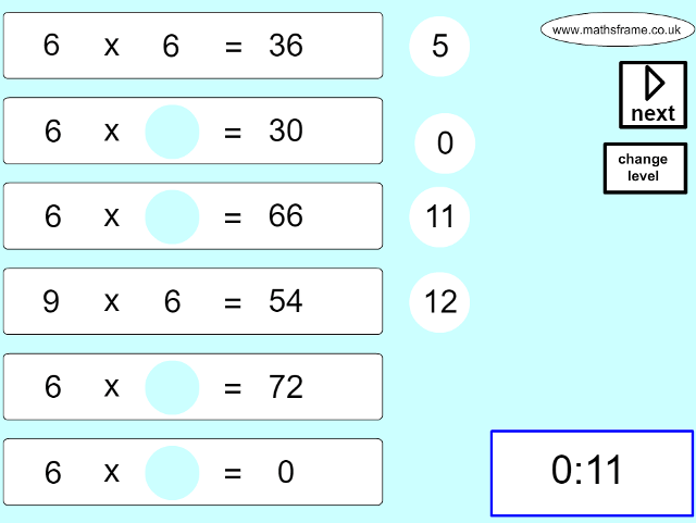 multiplication--rapid-recall