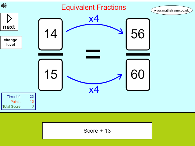 Equivalent Fractions - Mathsframe