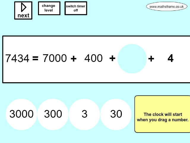 Partitioning, Place Value and Rounding - Mathsframe