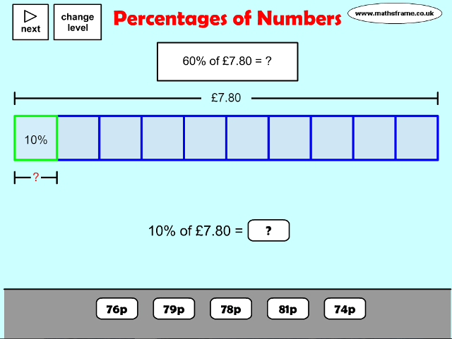 percentages-of-numbers