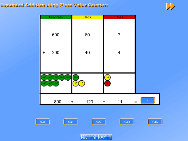 Expanded-Addition-using-Place-Value-Counters