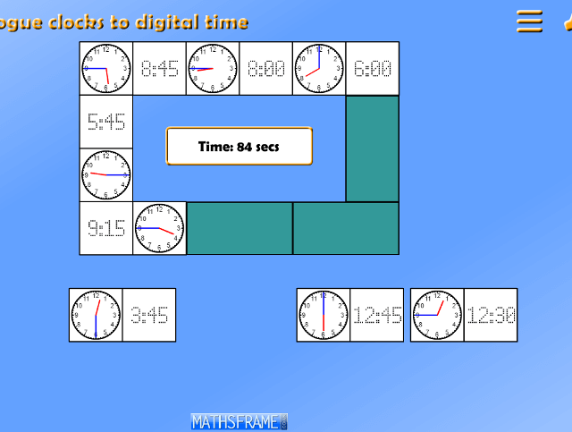 Read the time on a 12-hour digital clock and to the nearest 5 ...