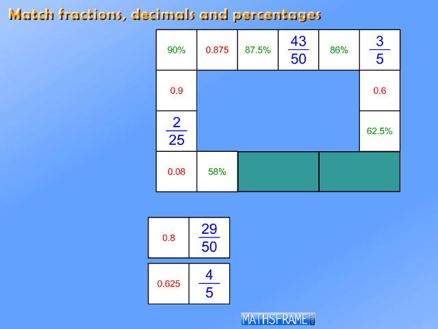 Dominoes-Match-Fractions-Decimals-Percentages