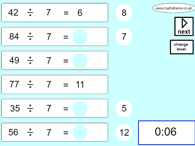 Multiplication and Division - Mathsframe