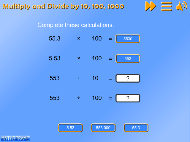 Multiply and divide whole numbers and those involving decimals by ...