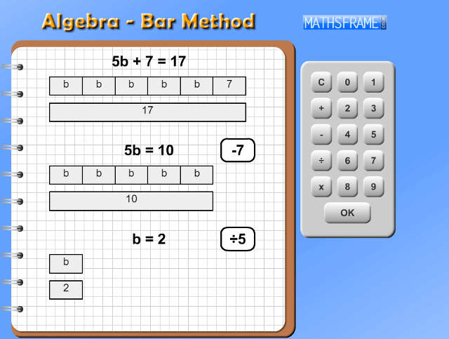 Algebra-Bar-Method