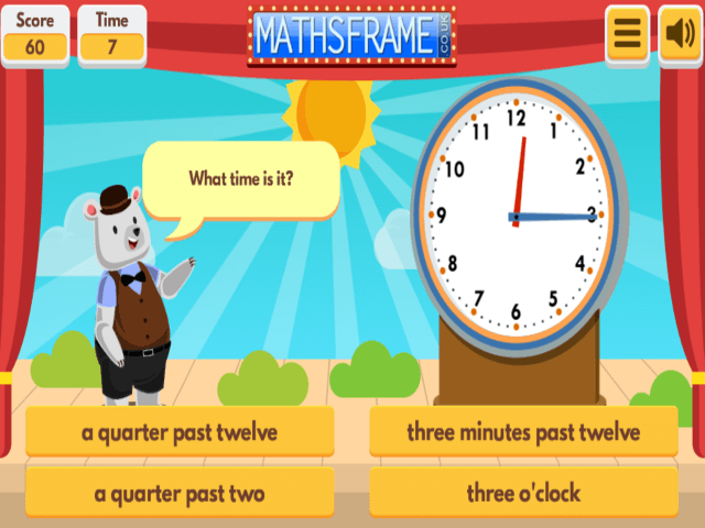 Telling The Time In Words Mathsframe