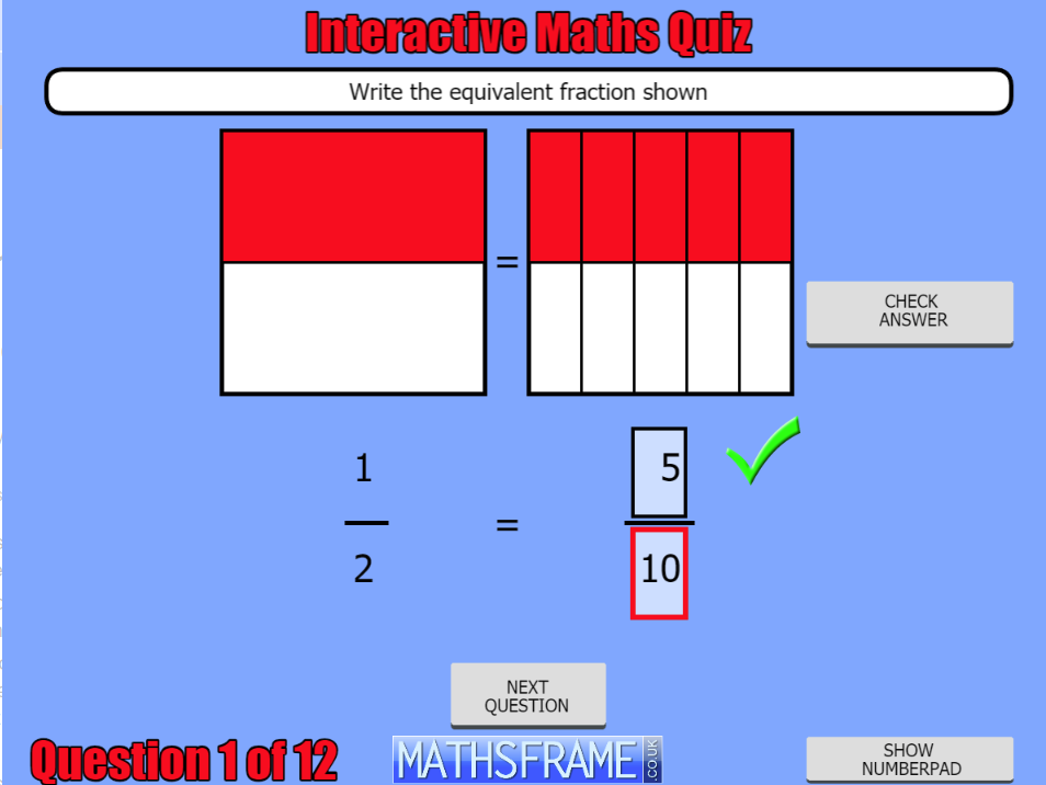 Y4-Number-Fractions-Interactive-Quiz