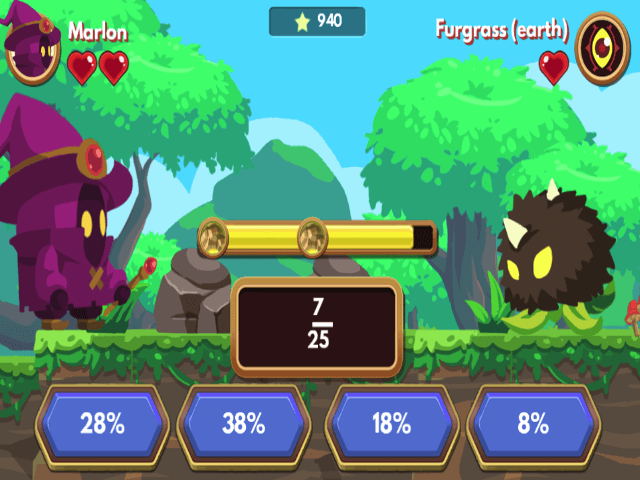 Marlons-Magical-Maths-Mission-Convert-Fractions to Percentages