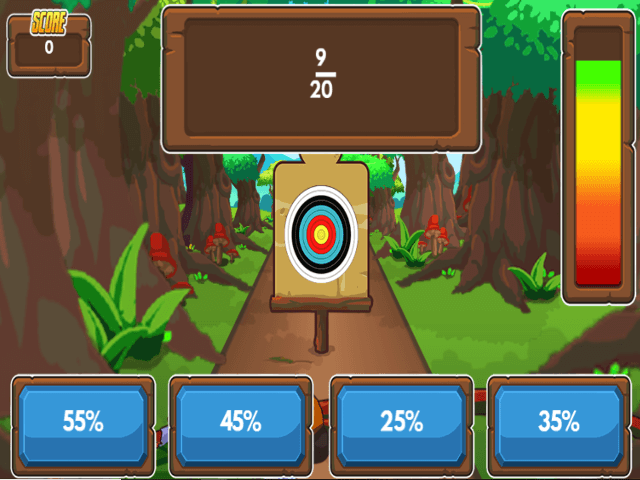 Archery-Arithmetic-Convert-Fractions-to-Percentages
