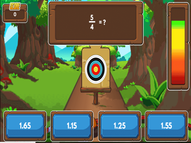 Archery-Arithmetic-Convert-Fractions-to-Decimals