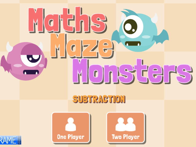 Maths-Maze-Monsters-Subtraction
