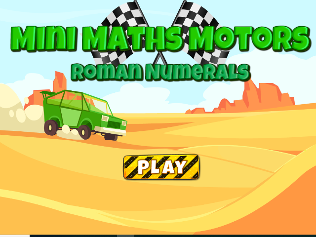 Mini-Maths-Motors-Roman Numerals