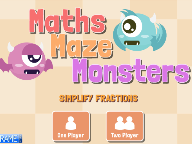 Maths-Maze-Monsters-Simplify-Fractions