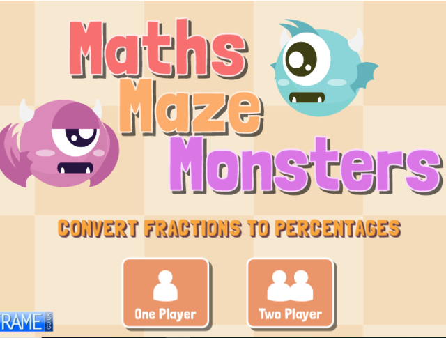 Convert-Fractions-to-Percentages-Maths-Maze-Monsters