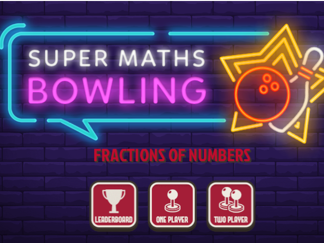 Fractions-of-Numbers-Super-Maths-Bowling