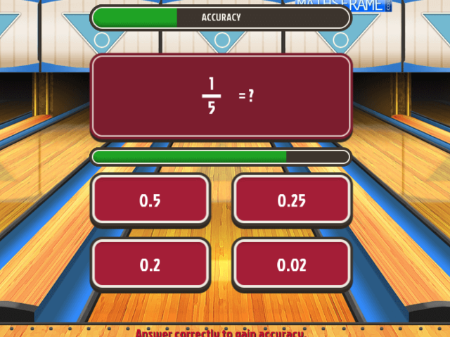 Convert-Fractions-to-Decimals-Super-Maths-Bowling