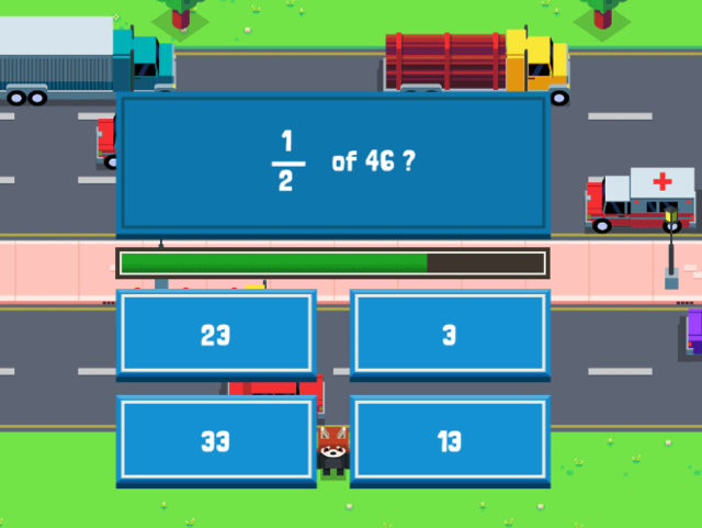 Fractions-of-Numbers-Maths-Road-Hopper