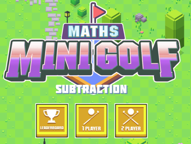 Subtraction-Mini-Maths-Golf