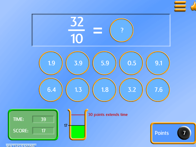 Compare and order fractions, including fractions >1 - Mathsframe