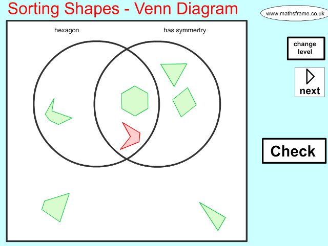 sorting 2d shapes on a venn diagram mathsframe. Black Bedroom Furniture Sets. Home Design Ideas